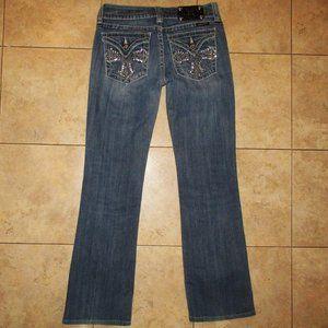 MISS ME Boot Cross Flap Pocket Jeans 29 W/ 29 L